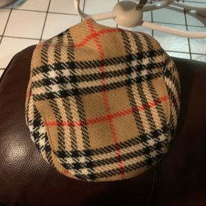 VINTAGE Burberry's Of London Newsboy Hat